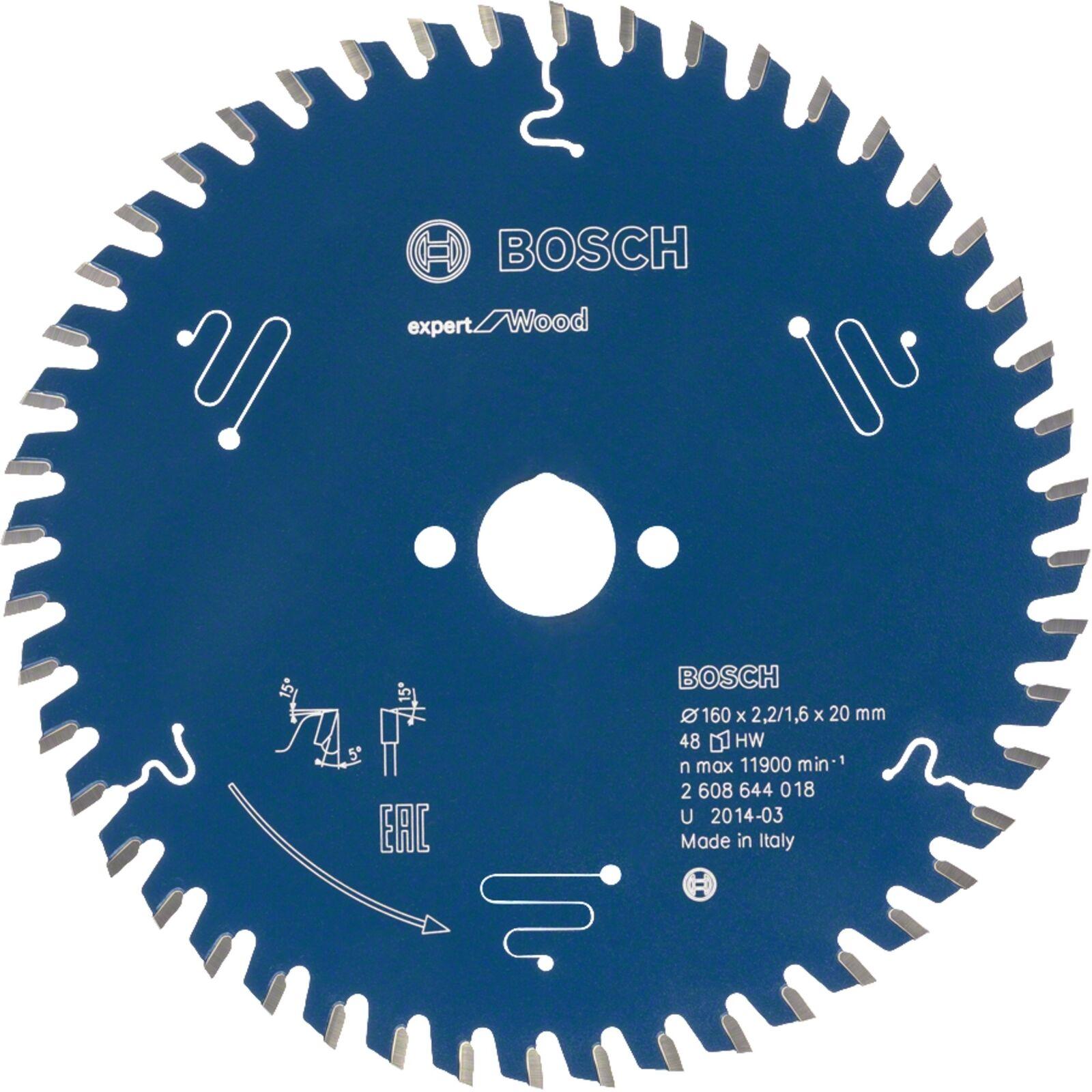 Bosch Professional Kreissägeblatt Expert Wood 216mm x 30, 2608642497, Sägeblatt