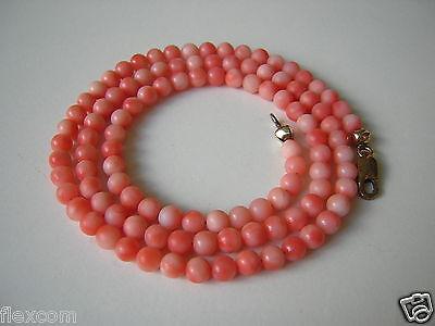 Loose Diamonds & Gemstones Fine Necklaces & Pendants Kette Kugeln Koralle Engelshaut 8 Kt/333 Gold Verschluß 11,2 G Coral