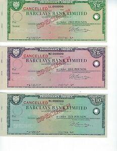 BARCLAYS-BANK-LIMITED-SPECIMEN-SET-TRAVELERS-CHECKS-OLDER-SET-NICE-MINT