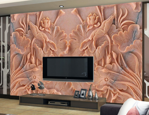 3D Wealthy Lotus 857 Wall Paper Murals Wall Print Wall Wallpaper Mural AU Kyra