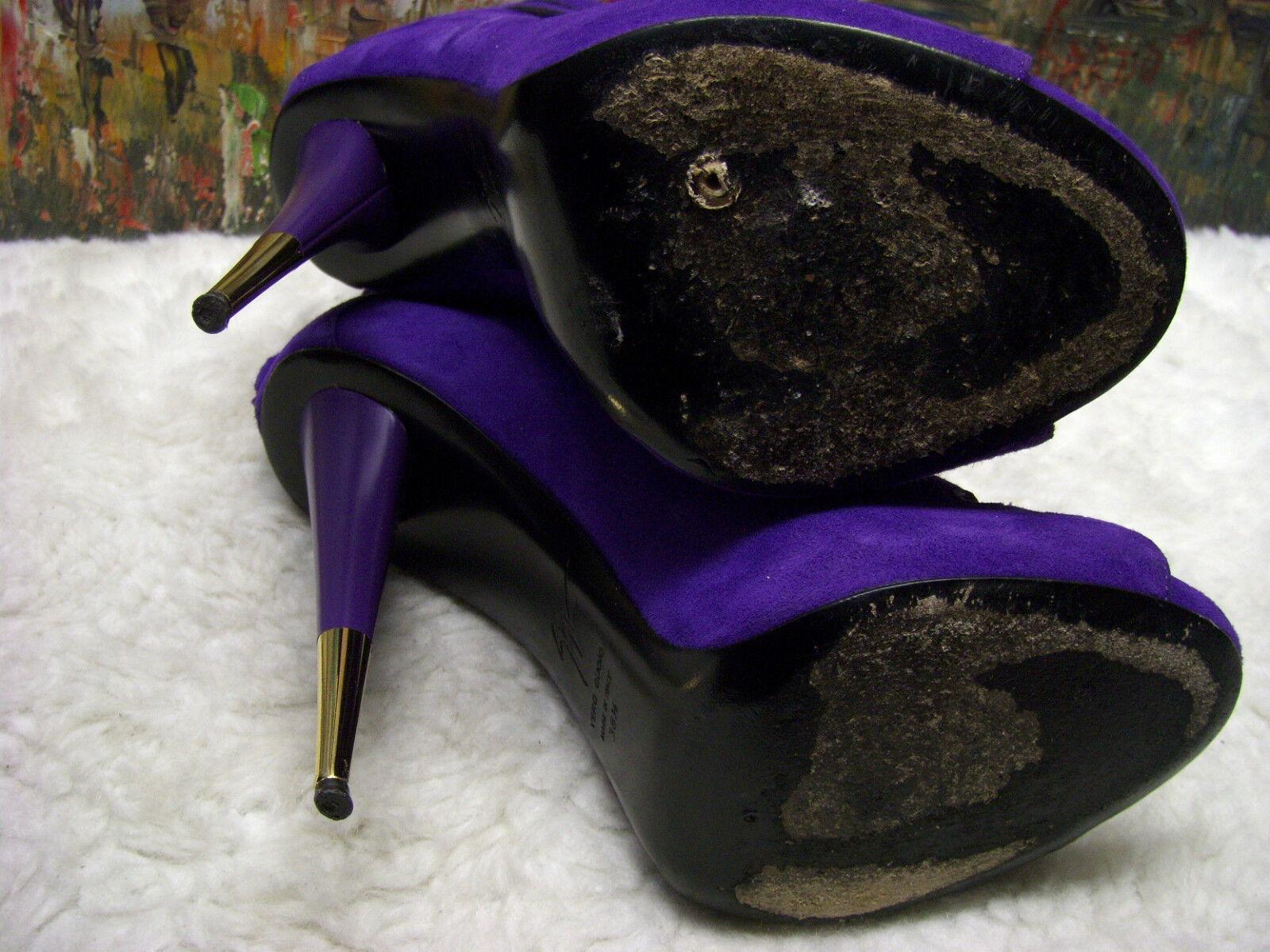 Giuseppe Zanotti Cut Out Sandal Ankle Stiefel Suede Suede Suede Heel - Größe 38.5 -  1095 ac7c5b