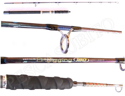 Other Fishing Rods Tireless Canna Vertical Jigging Elite 1.80mt 80/170gr Pesca Dentice Ricciola Cernia Tp