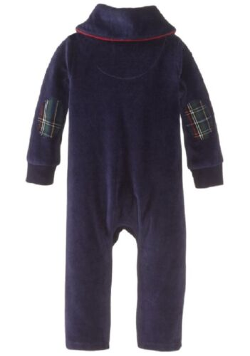 Mud Pie Little Gentlemen Velour One Piece w// Elbow Patches