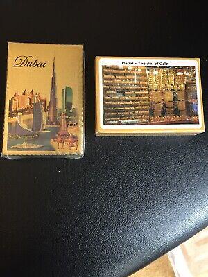 2 X Dubai Carte Da Gioco-mostra Il Titolo Originale Profitto Piccolo