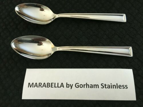 Lot of 2 Marabella by Gorham Stainless Steel Teaspoon Free Shipping