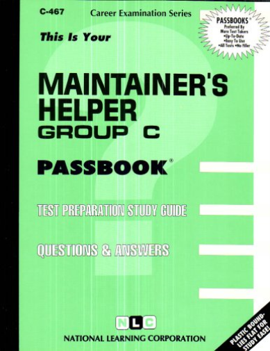 National Learning Corporation-`Maintainer`S Helper, Group C` BOOK NEW
