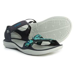 dc21801b338075 Image is loading Crocs-Swiftwater-Webbing-Adjustable-Straps -Sport-Sandals-Womens-