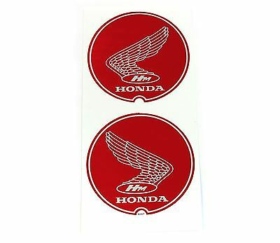 1967 - 1968 P50 Frame Wing Decal Set ✰ Red Decals ✰ Little Honda - left & right