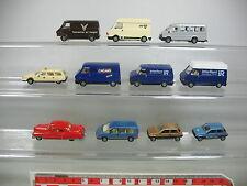 AJ383-0,5# 11x Praline H0 PKW/Transporter: Ford+Fiat+Citroen+Renault+Cadillac