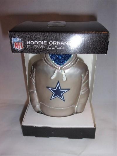 Old World Christmas Dallas Cowboys Hoodie Glass Ornament 70903 NFL  Decoration  8fbb5dd2b