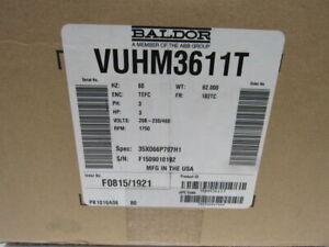 Baldor-VUHM3611T-3Hp-1750RPM-208-230-460V-3Ph-60Hz-182TC-Electric-AC-Motor
