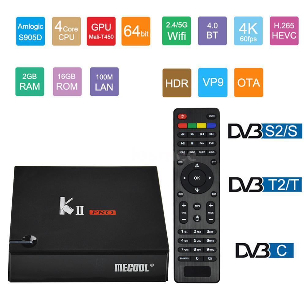 TV BOX + DVB-S S2&DVB-T T2&DVB-C STB Android 7.1 2GB 16GB HD Media Player WIFI