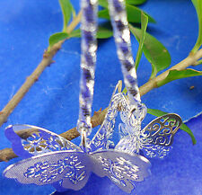 fashion 1PCS Silver CZ fashion The butterfly earrings  BJ133