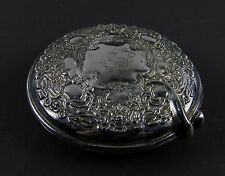 """Monogrammed PCS """" INTERNATIONAL SILVER COMPANY """" Silver Plated Compact Mirror"""