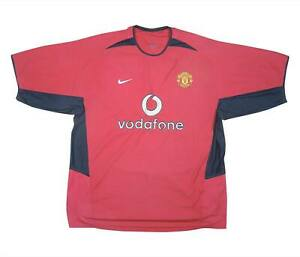 Manchester-United-2002-04-Authentic-Home-Shirt-eccellente-XL-soccer-jersey