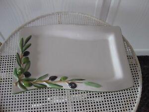 Sehr Schöne Servierplatte Made In Italy Oliven Hochglanzpoliert Gedeckter Tisch Möbel & Wohnen