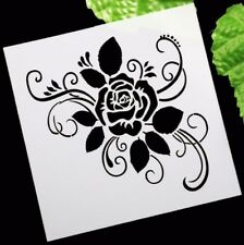 Retro Rose Flower Layering Stencil Template DIY Scrapbooking Home Bar Decor A