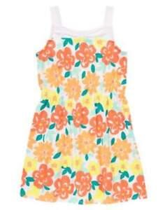NWT-Gymboree-Sunny-Citrus-Tropical-Hawaiian-Floral-Knit-Dress-Size-5-6-amp-7