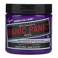 Manic Panic Vegan Semi Permanent Hair Color Dye Cream 118 Ml Electric Amethyst