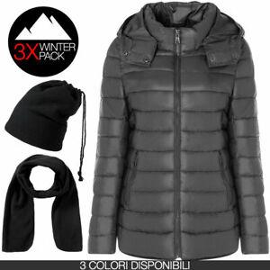 Piumino donna ARTIKA N012 + Winter Pack sciarpa e cappello/scaldacollo