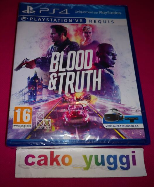 BLOOD & TRUTH SONY PS4  NEUF VERSION 100% FRANCAISE PLAYSTATION VR REQUIS