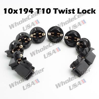 10x 194 Instrument Gauge Cluster Light Bulb Lamp Dashboard Sockets For Dodge