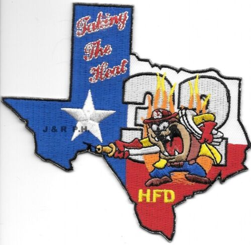 """Texas Houston Station 32  /""""Taking the Heat/"""" fire patch 4.5/"""" x 4.25/"""""""