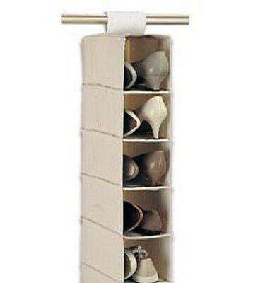 5 Shelf Hanging Bag Clothes Shoe Holder Rack Organiser Wardrobe Tidy Storage UK