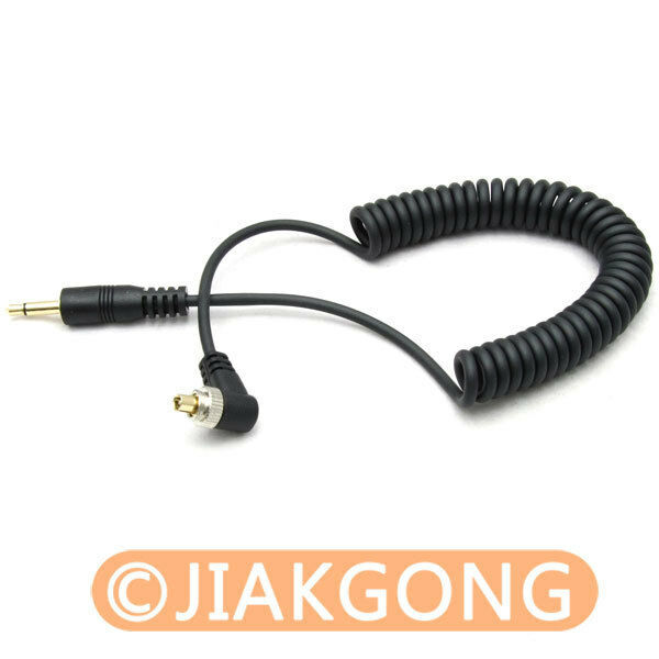"""3.5mm 1/8"""" to Male PC Sync FLASH Cable with Screw Lock"""