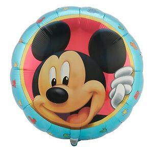 Mickey-Mouse-45-7cm-Redondo-Aluminio-Helio-Globos-para-fiesta-no-cumpleanos