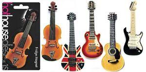 fridge magnet violin union jack guitar acoustic guitar