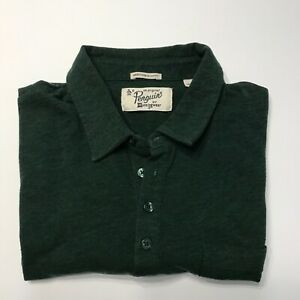 Penguin-Original-Munsingwear-Men-s-L-Short-Sleeve-Forest-Green-Pocket-Slim-Fit