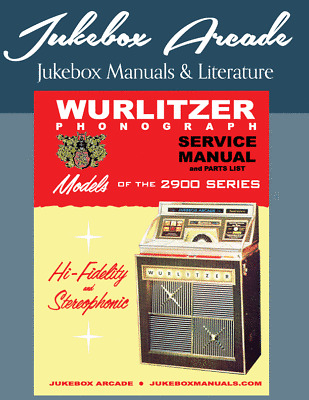 Wurlitzer 2600 Series Service and Parts Manual w// Troubleshooting New!
