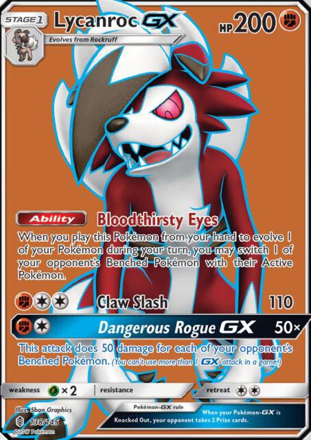 Pokemon Card: Lycanroc GX - 138/145 - Full Art Ultra Rare Sun & Moon: