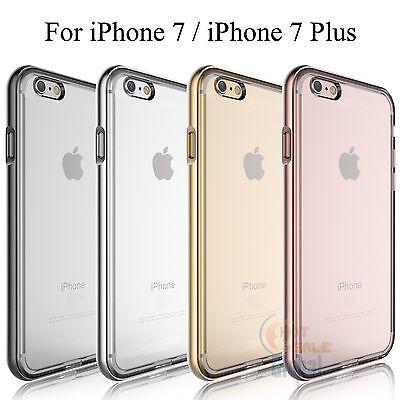 Transparent Bumper Clear Case Cover Soft TPU Back Apple iPhone 7