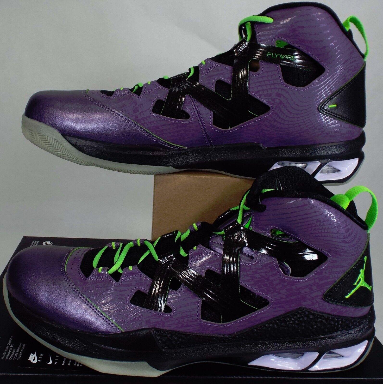 New Hommes 13 NIKE Air Jordan Melo M9 BLKLGT Violet  Noir  Chaussures  140 587858-539