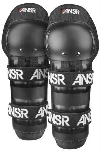 Answer Apex Knee and Shin Guards Adult Black Pair MX Motocross ATV Off-Road NEW