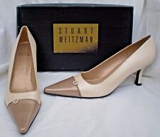 Stuart Weitzman Pumps 8 N Shoe NEW w/Box Pearl & Bronze Rhinestone Women's SPAIN