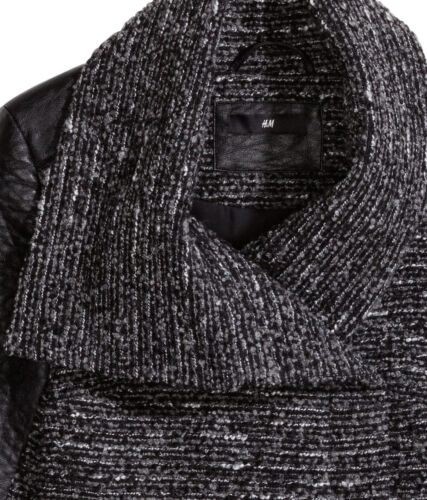 m Uk in pelle e in 44 Giacca Size maniche 18 con similpelle H in lana pelle uomo in maniche da qpwdt6a