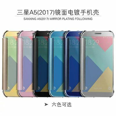 Luxury Mirror Smart Clear View Wallet Flip Case Cover For Samsung Various Phone
