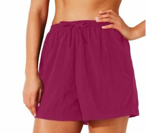 Swim365-Women-039-s-Plus-Swim-Shorts-Coverup-Quick-Dry-Taslon-Nylon-PINK-NWT-30-32-W