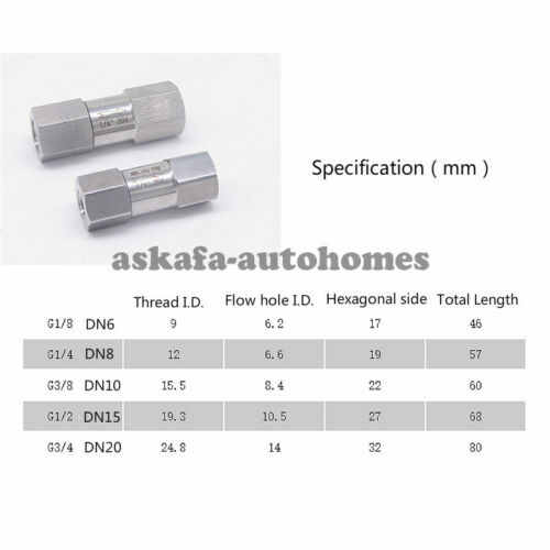 Split Type Combined Check valve G//NPT1//8 1//4 3//8 1//2 3//4 1 SS304 Stainless Steel