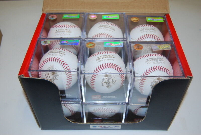 Dozen Rawlings WSBB15DL World Series Met Royals MLB Official ROMLB Baseball Cube