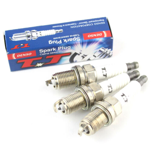 3x PEUGEOT 107 1.0 Genuine DENSO Twin Tip TT spark plugs