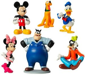 MICKEY MOUSE CLUBHOUSE 6 Figure Set DISNEY PVC TOY Cake ...