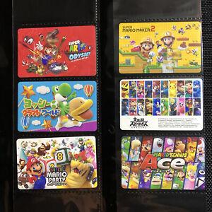 Nintendo Super Mario Prepaid Download Eshop Gift Card Set (Used no value)