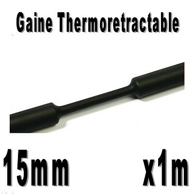 1m Rouge Diam Gaine Thermo Rétractable 2:1 10 mm