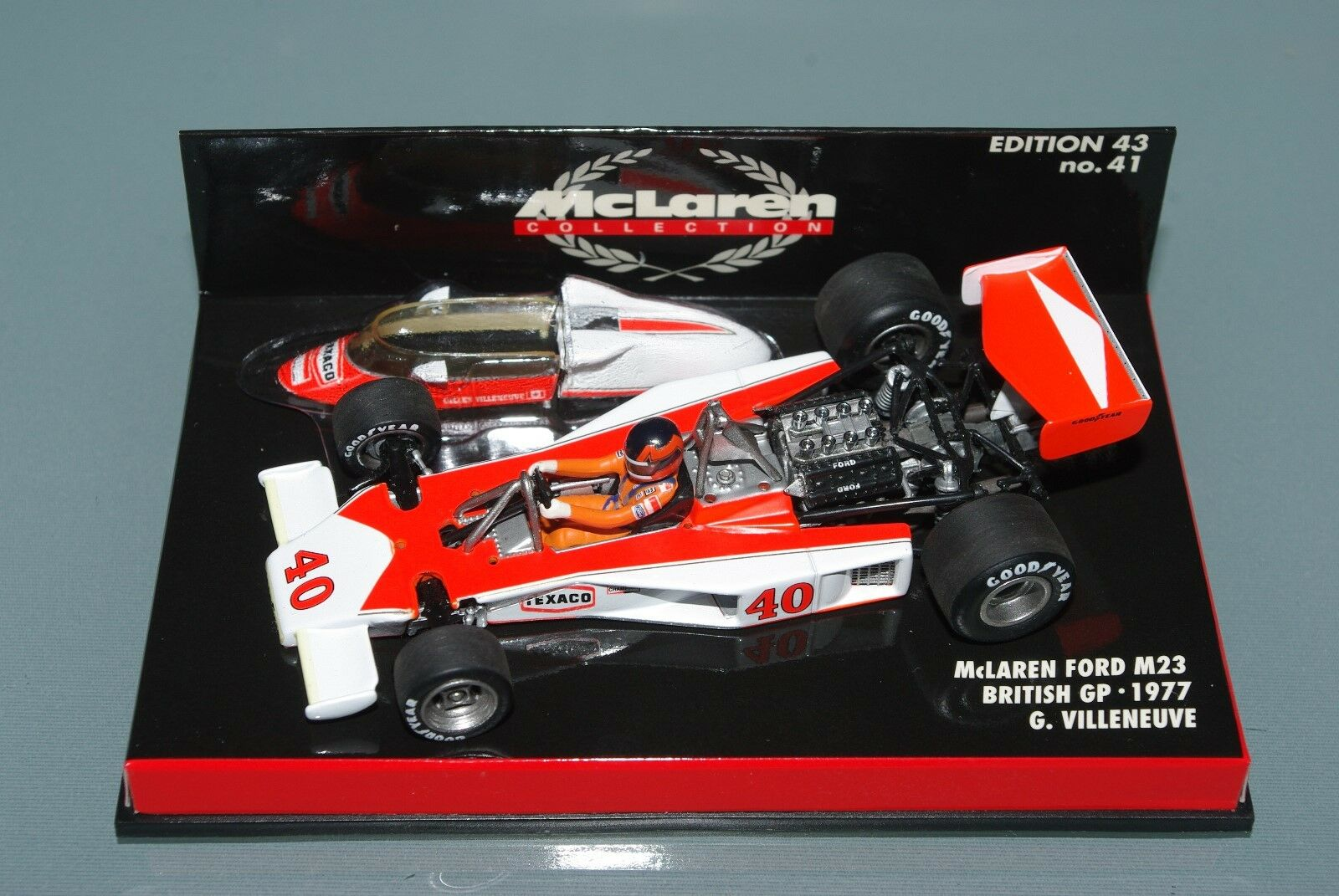 Minichamps F1 1 43 McLaren Ford MP23 British GP 1977 Gilles Villeneuve