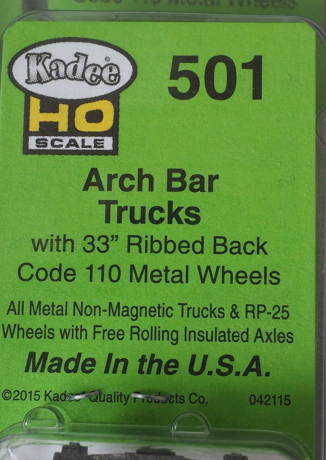 Lot of 5 On-Trak Model Products 5305 Grasse River Arch Bar Trucks,Metal,HO Scale
