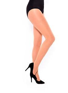 Nude-60-Denier-Ladies-Tights-Opaque-Matt-Pantyhose-Hosiery-by-Aurellie-UK-8-22